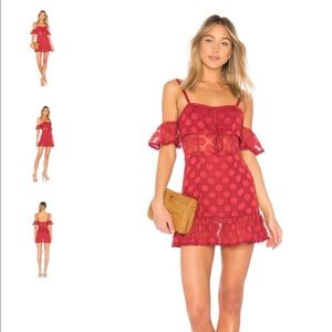 Tularosa Dresses - Tularosa red polka dot dress